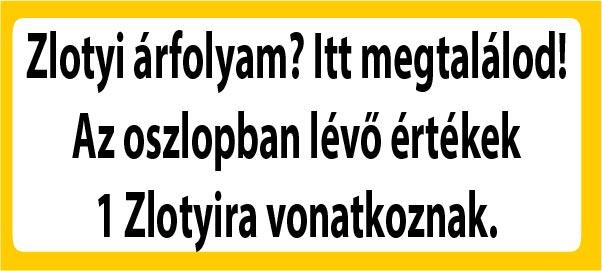 napi árfolyam zlotyi valuta