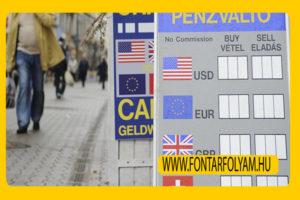 euró napi árfolyam pénzváltók valuta árfolyam